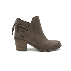 ROXY Lace Up Dulce Heeled Ankle Boots